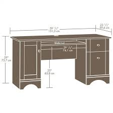 computer desk in brushed maple