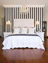 Black And White Vertical Stripes Make A Low Ceiling Seem Much Higher
