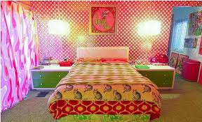 70's retro yellow bedroom from getitcut.com
