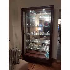 home decor s with rhswineflumapscom display drake dual slide contemporary curio cabinet wood glass shelf shelves jpg