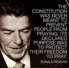 Quote Of The Day Reagan The Constitution And Prayer Common Fascinating Constitution Quotes