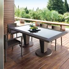 garden dining tables st tropez outdoor wicker dining table and chairs modern patio