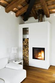 Decorations:Great Wood Burner Fireplace Corner Design Combine With White  Sectional Sofa On Laminate Wooden