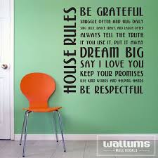 house rules wall art next