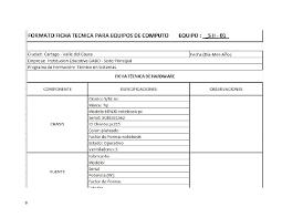 Ficha Tecnica Sena En Word