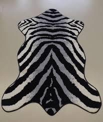 Efia Matte Zebra Shape Sld0615 115x175 Grau Schwarz Weiss Besondere Größe Fußmatte 115x 175cm Teppich Vorleger Läufer Teppiche Matten Küche Esszimmer