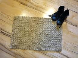 jute doormat magic boucle rug platinum braided 8x10 west elm