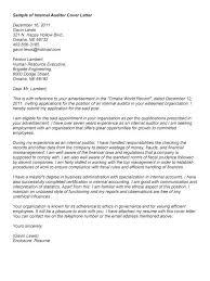 Cover Letter Internal Auditor Same Cover Letter Cover Letter