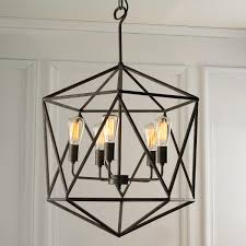 Large Prism Chandelier With geometric flair, this modern industrial  chandelier draws attention. Multi-