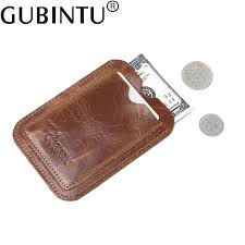 new 100 sheepskin genuine leather credit card case mini id holder small purse for man slim mens wallet cardholder