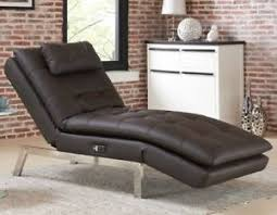 luxury lounge chairs. Image Is Loading Leather-Chaise-Lounge-Chair -Modern-Quality-Sofa-Convertible- Luxury Lounge Chairs