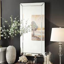 Conrad Bevel Mirrored Frame Rectangular Accent Wall Mirror by iNSPIRE Q  Bold by iNSPIRE Q