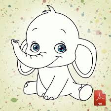 Small Picture Baby Elephant Printable Coloring Pages Coloring Pages