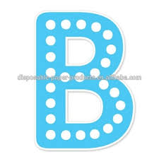 Happy Birthday Banner Blue B Polkadots Alphabet Letters Diy Bunting Banner Party Jointed Letter Cutout Banner Decoration Buy Blue Letter B Diy Party