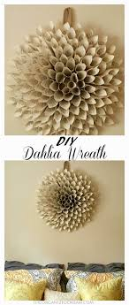 this is a nice subtle way to add al decoration to your home dahlia wreath made from old sheet