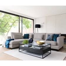 lugano left hand corner sofa grey