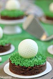 Golf Ball Decorations Golf Ball Truffles and Putting Green Brownies SugarHero 54