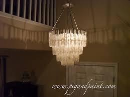 pig paint make diy capiz shell chandelier
