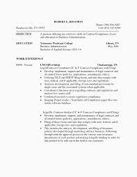 contract compliance resume