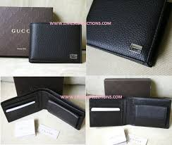 gucci mens leather wallet w coin purse