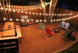 backyard string lights