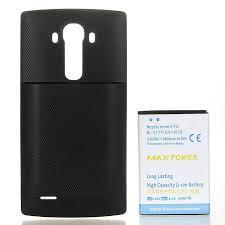 vervanging 6800mah li ion batterij case voor lg g4 more