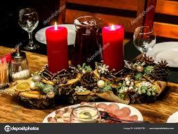 Candle Light Dinner Table Setting Festive Table Setting With Candles Candlelight Dinner