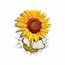 pag sticker 3d wall clock decals sunflower diy wall sticker home wall decor gift