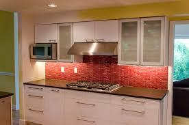 Kitchen Backsplash Red White Kitchen With Red Countertops Cliff Kitchen