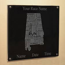 alabama state runner wall art on alabama state wall art with alabama state runner wall art running wall displays running desk