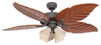 52 punta cana bronze indoor 4 light ceiling fan with remote control