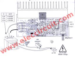 v variable power supply circuit at a the components layout and wiring