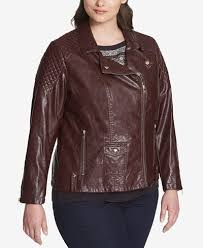 Tommy Hilfiger Plus Size Quilted Faux-Leather Biker Jacket ... & Tommy Hilfiger Plus Size Quilted Faux-Leather Biker Jacket, Created for  Macy's Adamdwight.com