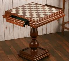 the 23 5 alabaster chess table opened drawers