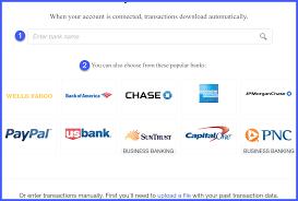 quickbooks credit card pany selection window