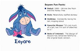 The old grey donkey, eeyore stood by himself in a thistly corner of the forest, his front feet well apart, his head on one side, and thought about things. Quotes By Eeyore Quotesgram