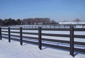 Black Fence UltraGuard Vinyl Horse Fence