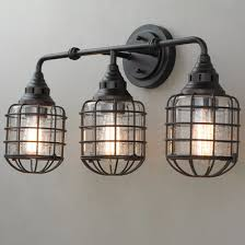 bathroom lighting fixtures rustic lighting. rustic loft cage bath light 3 bathroom lighting fixtures t