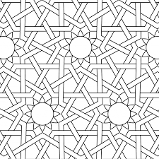Printable Mosaic Coloring Pages With Islamic Ornament Mosaic