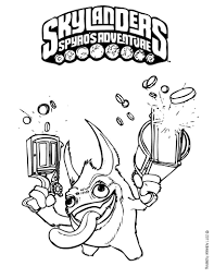 Small Picture Coloring Pages Kids Skylanders With Magic Also Spyro Coloring