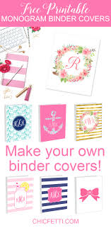 monogram binder covers