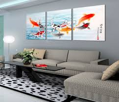 Wall Art Paintings For Living Room Aliexpresscom Buy 2016 New Year Koi Fish Wall Art Fashion Home