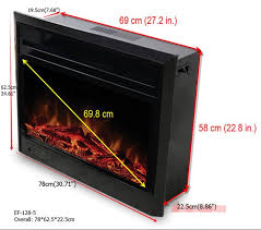 paramount 28 in electric fireplace insert