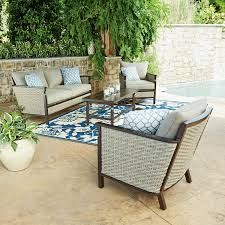 member s mark cole 4 piece seating set patio furniture with sunbrella at samsclub