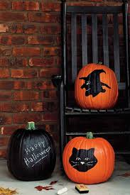 view in gallery painted pumpkin idea with chalkboard paint and cool motifs