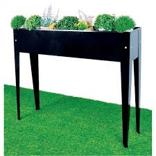 outdoor furniture cheap as chips. raised metal garden bed 98x25x82cm in charcoal colour outdoor furniture cheap as chips u