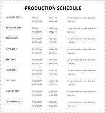 Film Production Calendar Template Filming Schedule Template Manufacturing Film Production Word Yakult Co