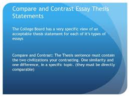 essay writing ppt video online  compare and contrast essay thesis statements