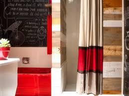 Brown Fabric Shower Curtains White Bathtub Steel Ring Hooks Pedestal