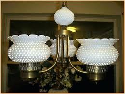 hobnail milk glass chandelier white attractive for 11